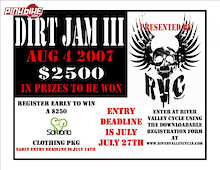 RVC in Edmonton presents Dirt Jam 3 on August 4th