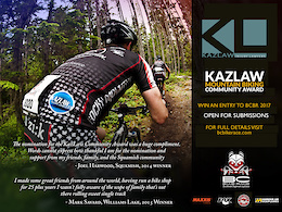 Win an Entry into the BC Bike Race With the Kazlaw Community Award