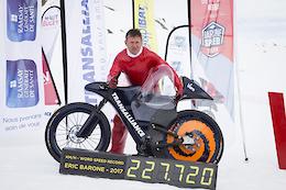 Eric Barone Smashes Mountain Bike World Speed Record - Video