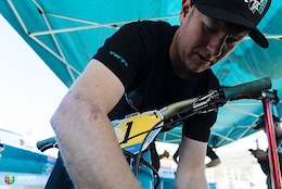 In the EWS Pit with Yeti Mechanic Shaun Hughes