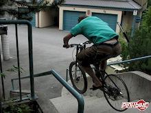 hucking stair on the tireless wheel!