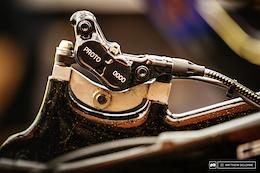 Loic Bruni's Prototype Formula Brakes - Lenzerheide DH World Cup 2017