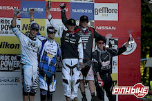 Hill wins World Cup DH Finals and Overall, Peat 3rd Overall, Bryceland Junior DH Overall Winner