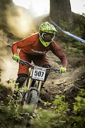 Britney White putting down a fast run at the NW Cup at Stevens Pass.