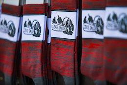 Steve Smith Chainsaw Socks Available at Crankworx Whistler