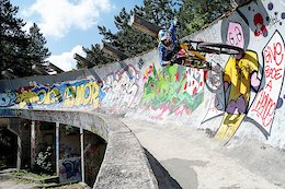Video: Sarajevo's Bobsled Track By Bike