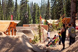 Big White Slopestyle Invitational shot at Big White in British Columbia on July 5, 2018. (photo by clint trahan / clinttrahan.com)