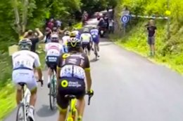 Video: Mountain Biker Jumps Over Tour de France Peloton - Updated with POV Footage