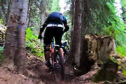 51d69507dd6dd Video  Kicking Horse Bike Park Gets a Raw  amp  Rooty New Trail