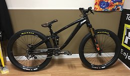 Trek Ticket S frame, 2019 Fox 831 36, Industry 9 Enduro 305 wheels, Saint drivetrain, Chromag seat, pedals, sprocket, and grips, Maxxis Ikon tyres, Bontrager Line Pro 35 bars and stem, Pro Seatpost.