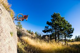 Nate and I talked about shooting this photo for probably at least a year before we actually went and did it. This natural wall ride is pretty fun, but it took a lot of effort for Nate to actually air out of it.