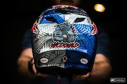 14 Custom Painted World Champs Helmets - Lenzerheide DH World Champs 2018