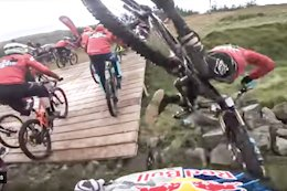 Video: Mass Carnage as Gee, Greg Callaghan & Loic Bruni Overtake Riders During Red Bull Foxhunt