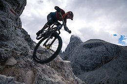 Video: Killian Bron Rides a Death-Defying Trail on a Cliffside in the Dolomites