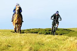 Video: Danny MacAskill vs a Horse