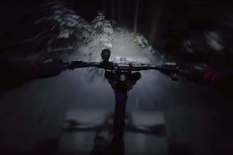 Video: Vinny T Shreds at Night on Snow