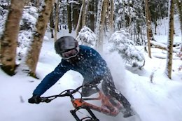 Video: Vinny T's Snowy Ride in 'Trying to Catch the Drone'
