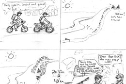 Comic Book Recap From a Bikepacking Adventure in Redfern, British Columbia