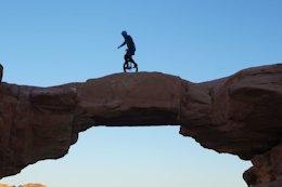 Video: Mountain Unicycling in the Wadi Rum Desert Jordan