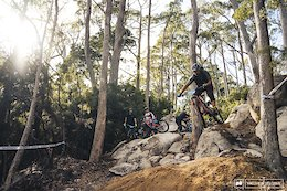 Sven Martin showing the lads how it's done. Stage one is in the running for trail of the year.