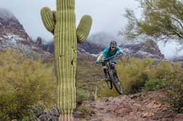 Photo Story: Riding The Outskirts of Arizona's 'Valley of the Sun' in Frigid Sleet