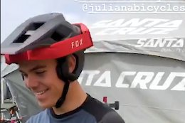 New Fox Open Face Dropframe Trail Helmet Spotted - Sea Otter 2019