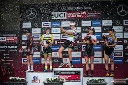 Elite Women's podium.