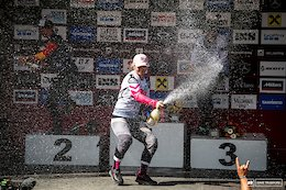 Tracey's champagne was the only thing raining in Leogang today.