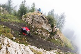 Some nice place between rocks with a bit of misty fog during stage 3 on Sunday.