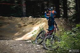 Trailside on A-Line - Crankworx Whistler 2019