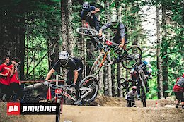 Video: Scrubs, Whips, and Mega Trains from the Air DH - Crankworx Whistler 2019