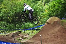 Video: Big Gaps and Fast Lines in Cathrovision Day 1 at the Mont-Sainte-Anne DH World Champs 2019