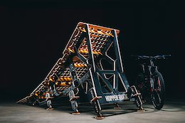 MTB Hopper Builds Giant 10 Foot Long 'Area 51 Fence Stormer' Portable Ramp