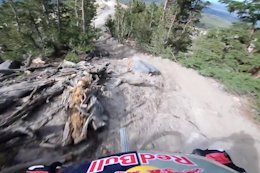 Video: Aaron Gwin POV Preview of Mammoth's New DH Trail 'Velociraptor'