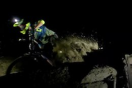 Video: Riding the Meribel World Cup Track at Night