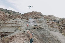 Video: Richie Schley Delivers Burritos to Rampage Riders Using Drones