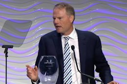 Video: Trek President John Burke Accepts Champion for Equality Award from Women's Sports Foundation