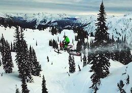 Darren Berrecloth Backcountry Freeriding on a Motorized Snow Bike