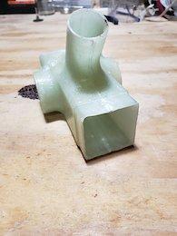 Bottom bracket junction molded with removable mandrel