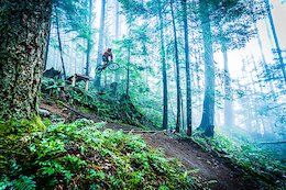 Conditions couldn't have been any better for a late December day in Squamish. A big sender and the fog rolling in to create the classic shore feel on one of Squamishes best new trails.