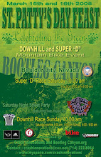 St. Paddys Day Downhill & Super D at  Bootleg Canyon