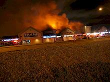 Gerick Cycle Kelowna fire - 1600 Block Harvey Avenue