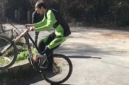 Video: Phil Atwill Teases New Carbon Cube Downhill Bike at Pre-Season Testing in San Remo