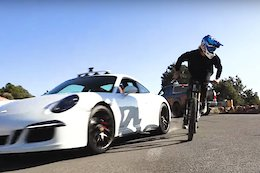 Video: Cam Zink in a 911 GTS Races Ray Syron to the Bottom of a Trail