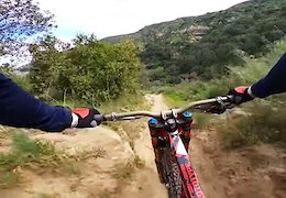 Video: Aaron Gwin Goes Flat Out in Laguna Beach - POV