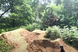 "Video: 10 Year Old Harry Schofield Flips 26"" Trail Bike on Surrey Hills Step Up"