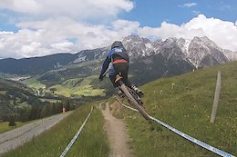 Video: 11 Year Old Vinci Vodan Smashes the Leogang World Cup Track