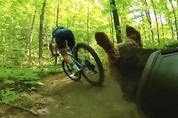 Video: Emily Batty Gets Chased by her Trail Dog