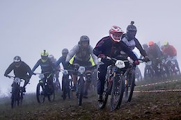 Video: Elbow to Elbow Downhill Racing at the Czech Republic's Dropdown Mass Start Race