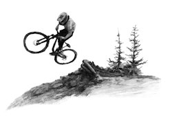 A Hand Drawn MTB Adventure in 'Keeping it close'
